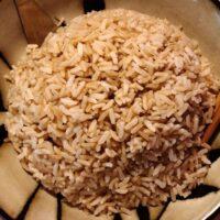 پخت برنج قهوه ای